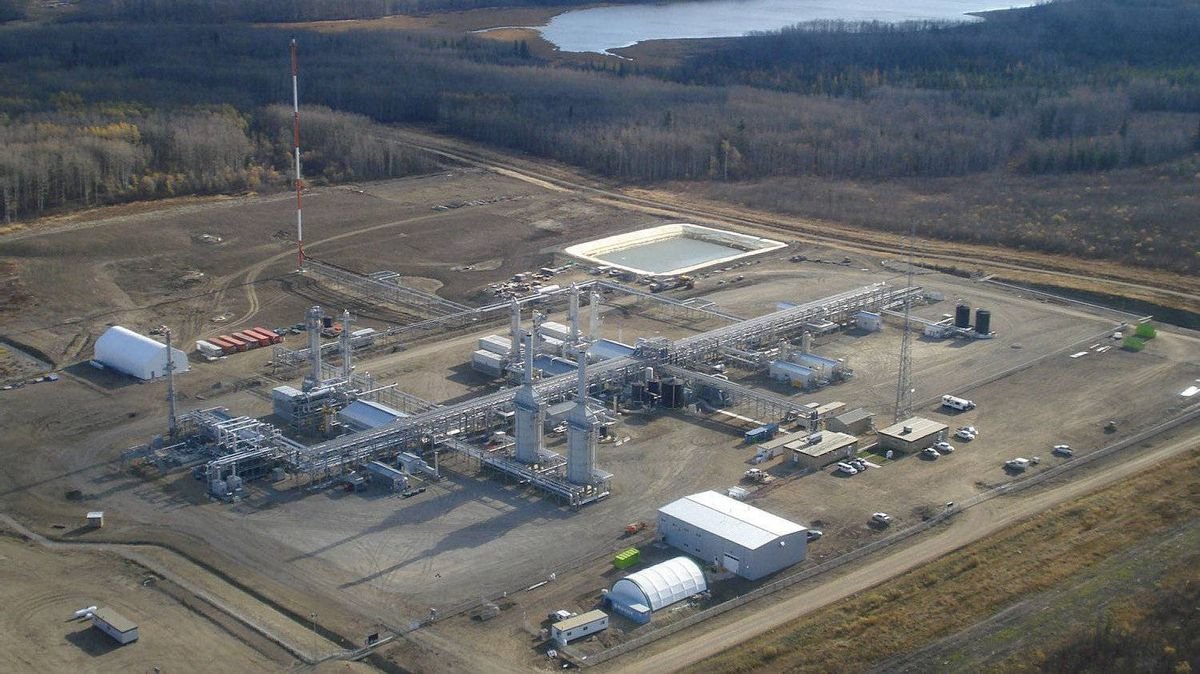 The Steeprock gas-processing plant , one of the assets Versen is buying from Encana Corp.