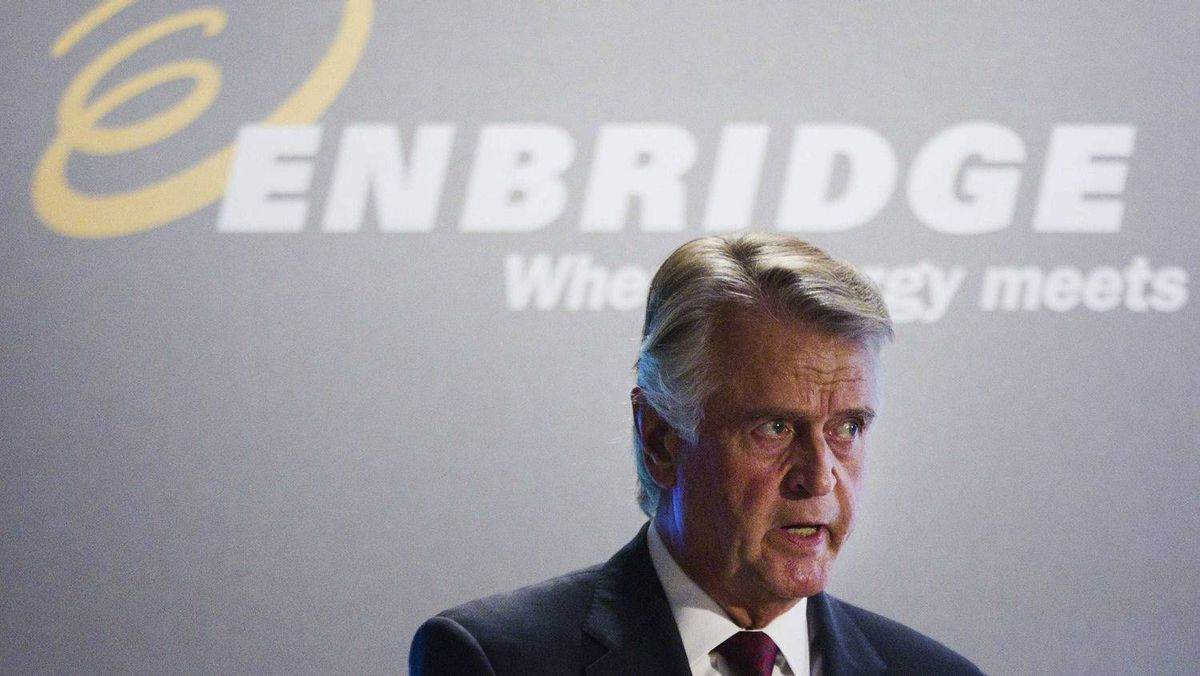 Enbridge Inc. CEO Patrick Daniel speaks during the company's annual general meeting in Toronto, May 9.