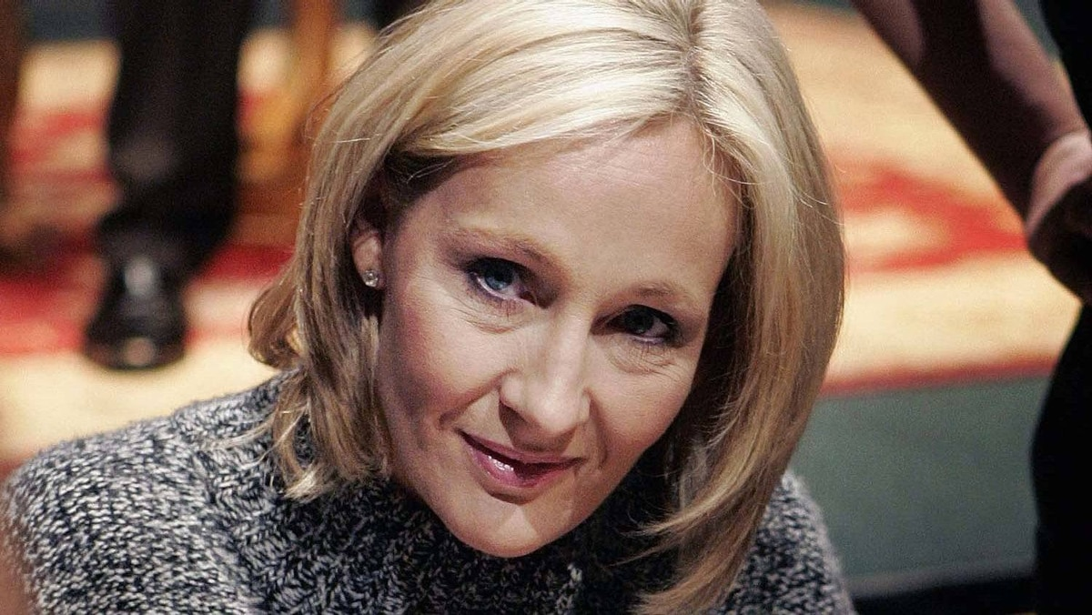 J.K. Rowling at a Harry Potter book signing in 2007.