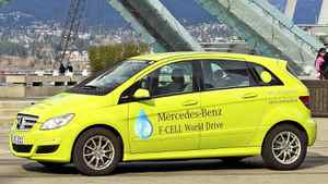 The Mercedes-Benz B-Class F-CELL dropped anchor in Vancouver last week, 11,000 kilometres into its 125-day, 30,000-kilometre around-the-world demonstration drive.