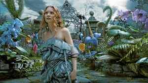 Mia Wasikowska is Alice in the Tim Burton film Alice in Wonderland.