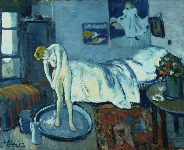 Pablo Picasso, The Blue Room, 1901. The Phillips Collection © The Estate of Pablo Picasso via AP.