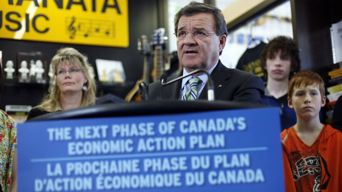 Canada's Finance Minister Jim Flaherty speaks during a media availability in Ottawa March 23, 2011.