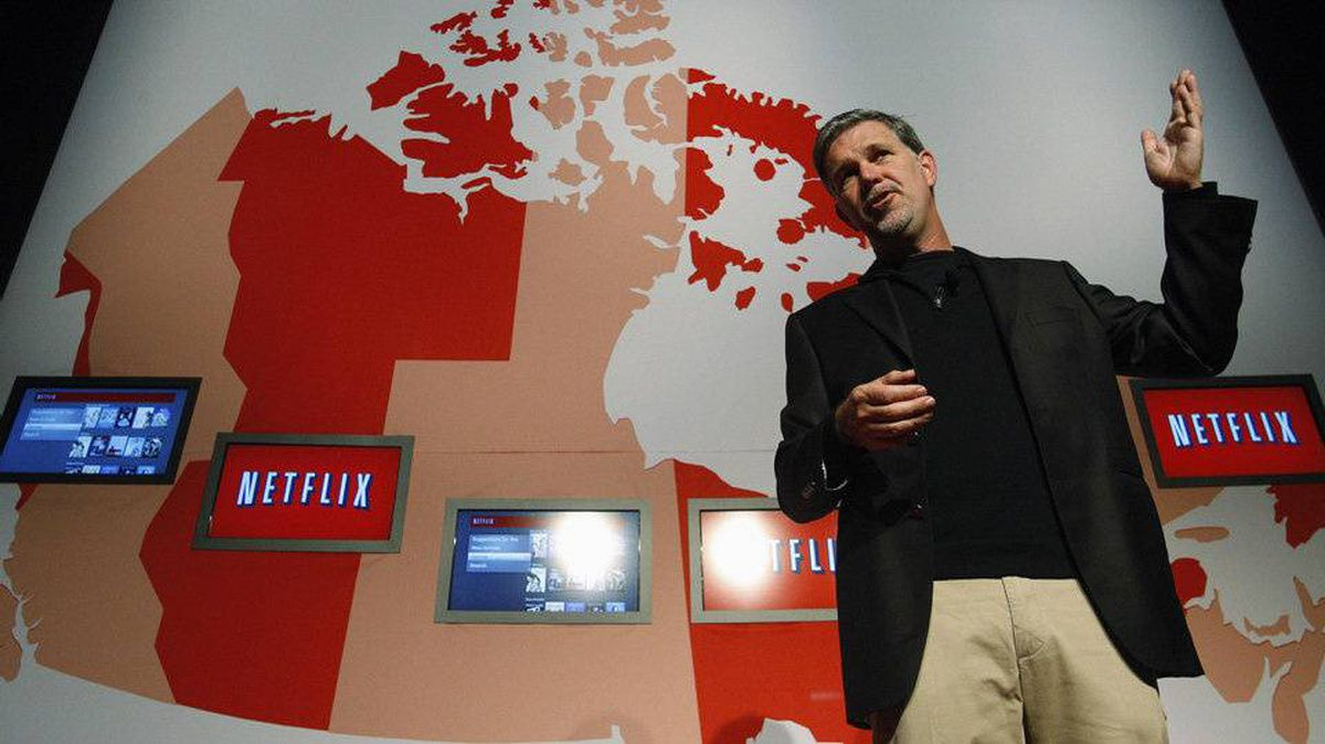 Netflix Chief Executive Officer Reed Hastings speaks during the launch of streaming internet subscription service for movies and TV shows to TVs and computers in Canada at a news conference in Toronto September 22, 2010.