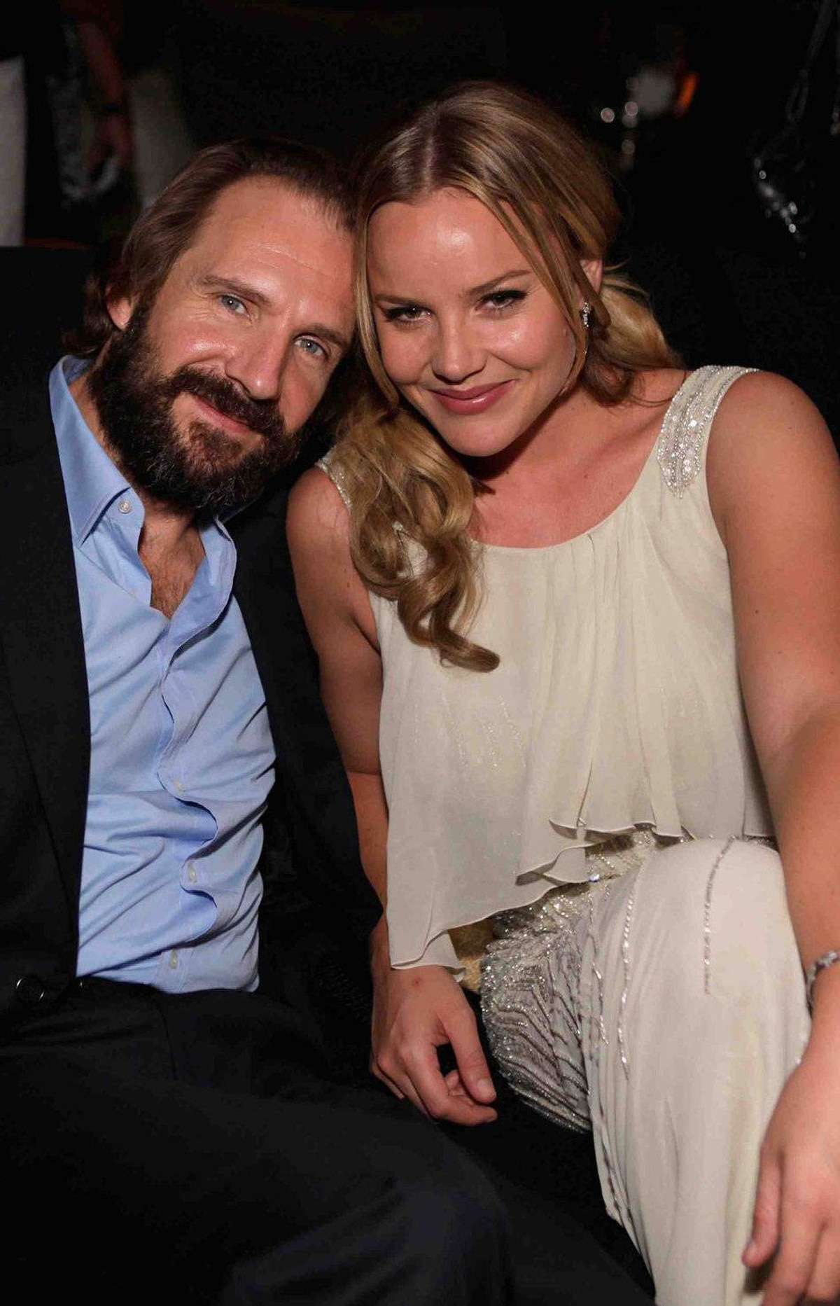 """TORONTO, ON - SEPTEMBER 12: Actor Ralph Fiennes and Actress Abbie Cornish attend the """"Weinstein Party Including Butter Cast"""" hosted by GREY GOOSE Vodka at Soho House Pop Up Club during the 2011 Toronto International Film Festival on September 12, 2011 in Toronto, Canada."""