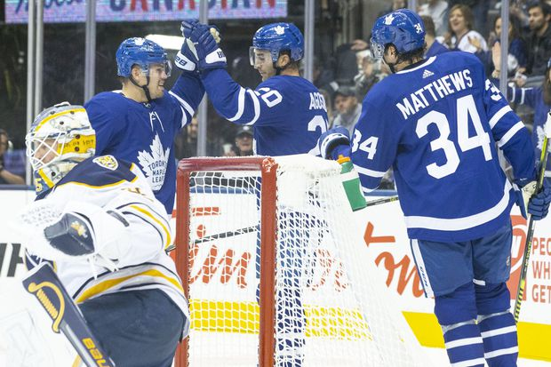William Nylander, Auston Matthews dominate as Leafs shutout Sabres 3-0 for first pre-season win