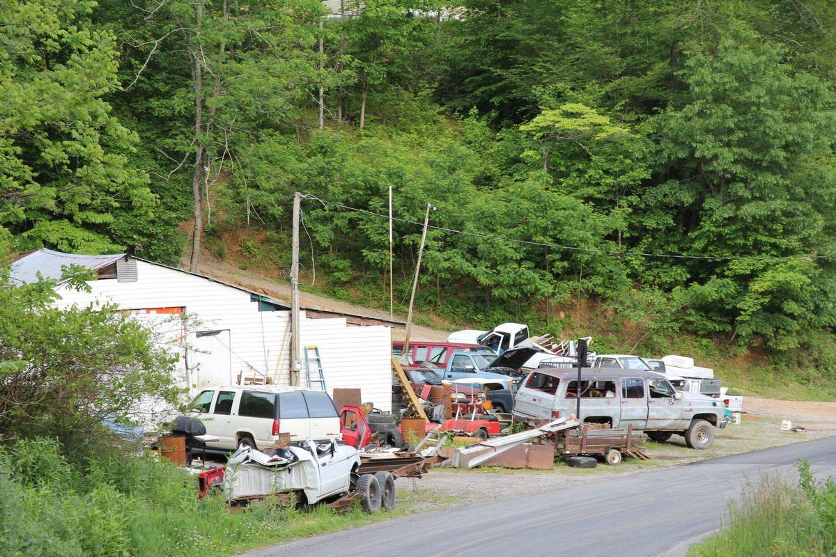 A back road off North Carolina's Route 74 looks like a real-life version of The Dukes of Hazzard.
