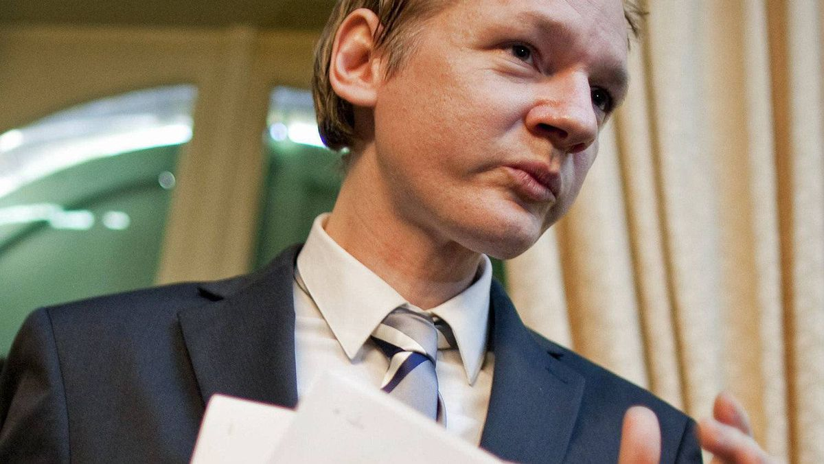 Julian Assange, founder of whistle-blowing website WikiLeaks, holds a news conference in Geneva on Nov. 4, 2010.