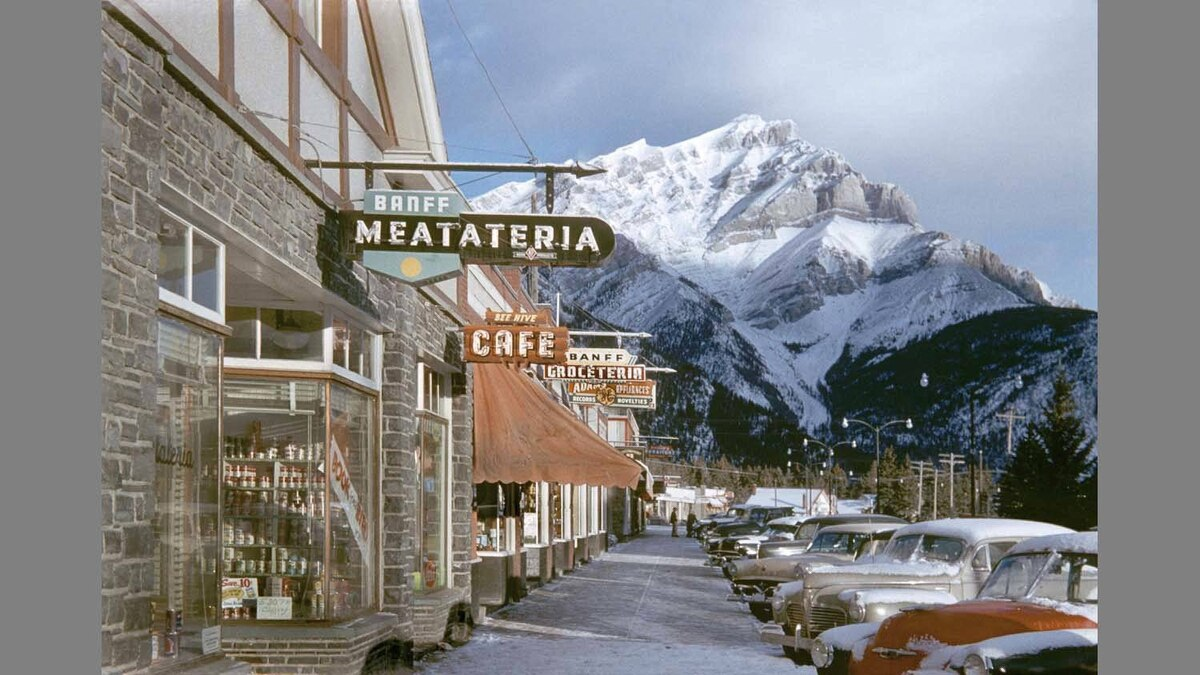 """Banff Meatateria"" (1955), by Fred Herzog"