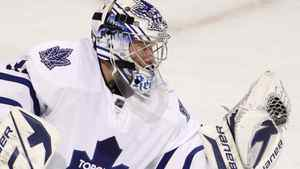 Toronto Maple Leafs goalie James Reimer gets the call to start against Pittsburgh. THE CANADIAN PRESS/Paul Chiasson