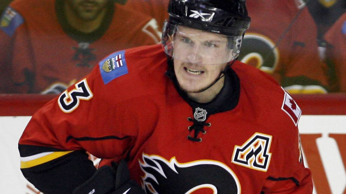 Calgary Flames defenceman Dion Phaneuf.