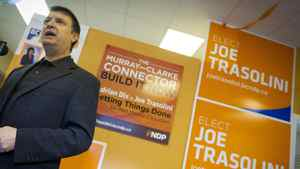 NDP candidate for Port Moody, Joe Trasolini, March 22, 2012, at his campaign office.