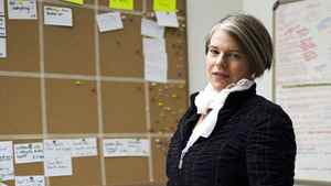 "Kirsten Forbes, Chief Operating Officer(COO) and co-founder of Vancouver-based Silicon Sisters Interactive, poses for a portrait in the company's ""war room"" Tuesday, January 31, 2012."