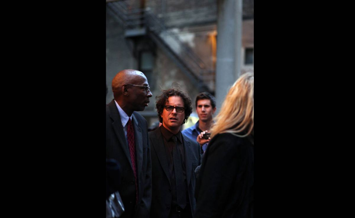 Connie Tsang (ardenstreet on Flickr) took this photo of Geoffrey Canada and Davis Guggenheim at the Waiting For Superman screening at Toronto International Film Festival. See more of her photos at www.ardenstreet.net