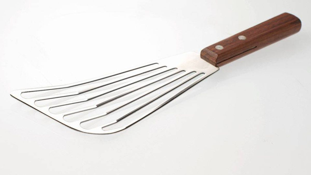 There is no better flipper than a fish flipper. They're flexible enough to slide under delicate eggs, fluffy pancakes and buttery sole fillets, and just wide enough so that your food doesn't droop over the sides. But the best part is the sharpened front edge: If anything's sticking, a fish spatula will free it.