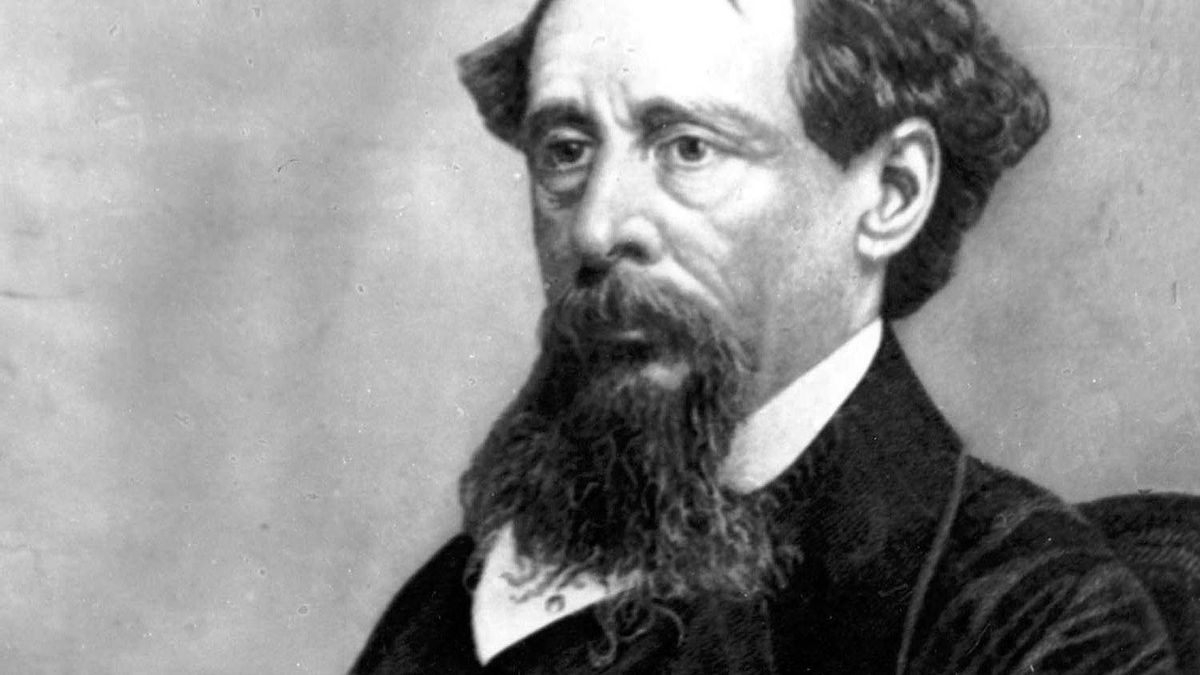 An undated photo of novelist Charles Dickens