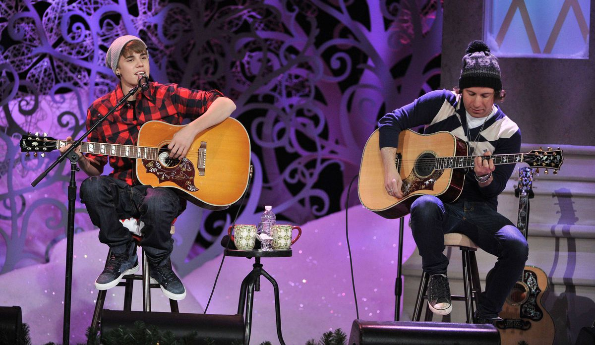 Justin Bieber performs songs from his hit album Under the Mistletoe at Massey Hall in Toronto, Dec. 21.