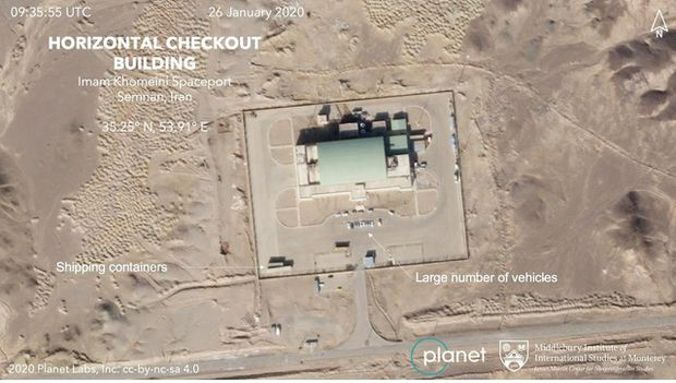 Photos suggest a U.S.-criticized Iranian satellite launch looms