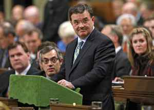 Finance Minister Jim Flaherty delivers the government's fiscal update in the House of Commons on November 27, 2008.