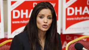 Ruby Dhalla, Liberal candidate for Brampton-Springdale, holds a news conference in Brampton, Ont., Wednesday, April 27, 2011.
