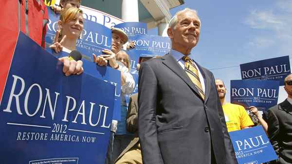 U.S. Representative Ron Paul waits for a television interview at a campaign stop in Exeter, N.H., on May 13, 2011, after announcing his candidacy for the Republican Presidential nomination earlier in the day.