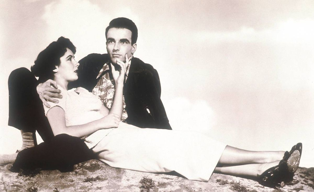 """Elizabeth Taylor And Montgomery Clift in the 1951 film """"A Place In The Sun."""""""