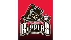 The London Rippers baseball team logo is shown in a handout photo.