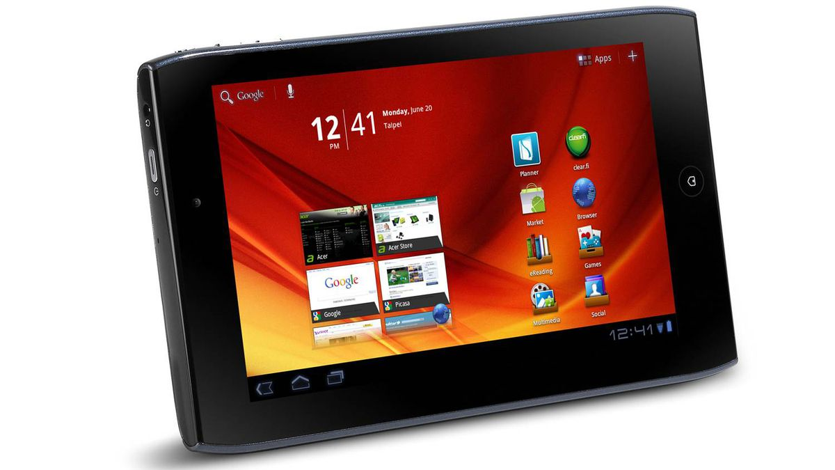 Acer Iconia Tab A100 Acer's 7-inch slate is one of the best in this size-range. It boasts a dual-core NVIDIA Tegra 2 processor, a gigabyte of memory, and up to 16 GBs storage. Has a pair of cameras with LED flash, a microSD memory card slot and even and HDMI-out port to jack into bigger displays. The more or less a clutter-free Honeycomb interface performs well with rarely a stutter, apps opened speedily and ran without a hitch. ($299.99; www.bestbuy.ca)
