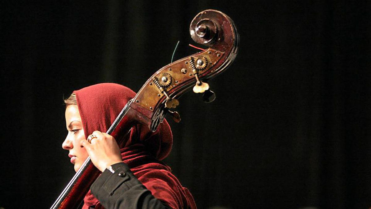 An Iranian musician performs with Iran's National Music Orchestra in Tehran in 2006. Iranian leaders are cracking down on music.