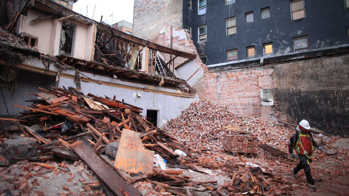 In demolishing Vancouver's oldest theatre, The Pantages, crews will salvage 750,000 bricks that will mostly go to a developer for interior walls on an Annacis Island project.