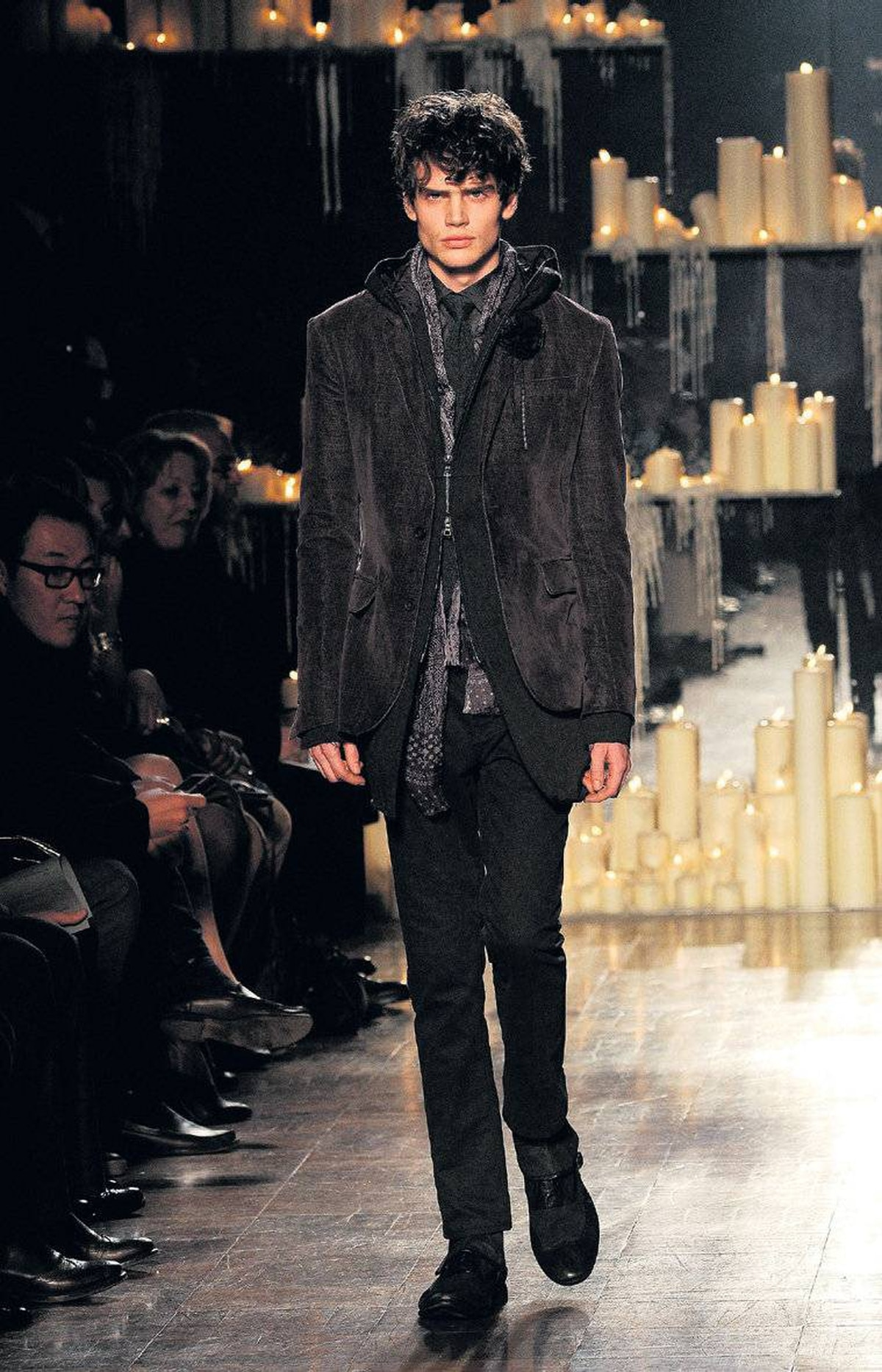 Corduroy jacket on the runway