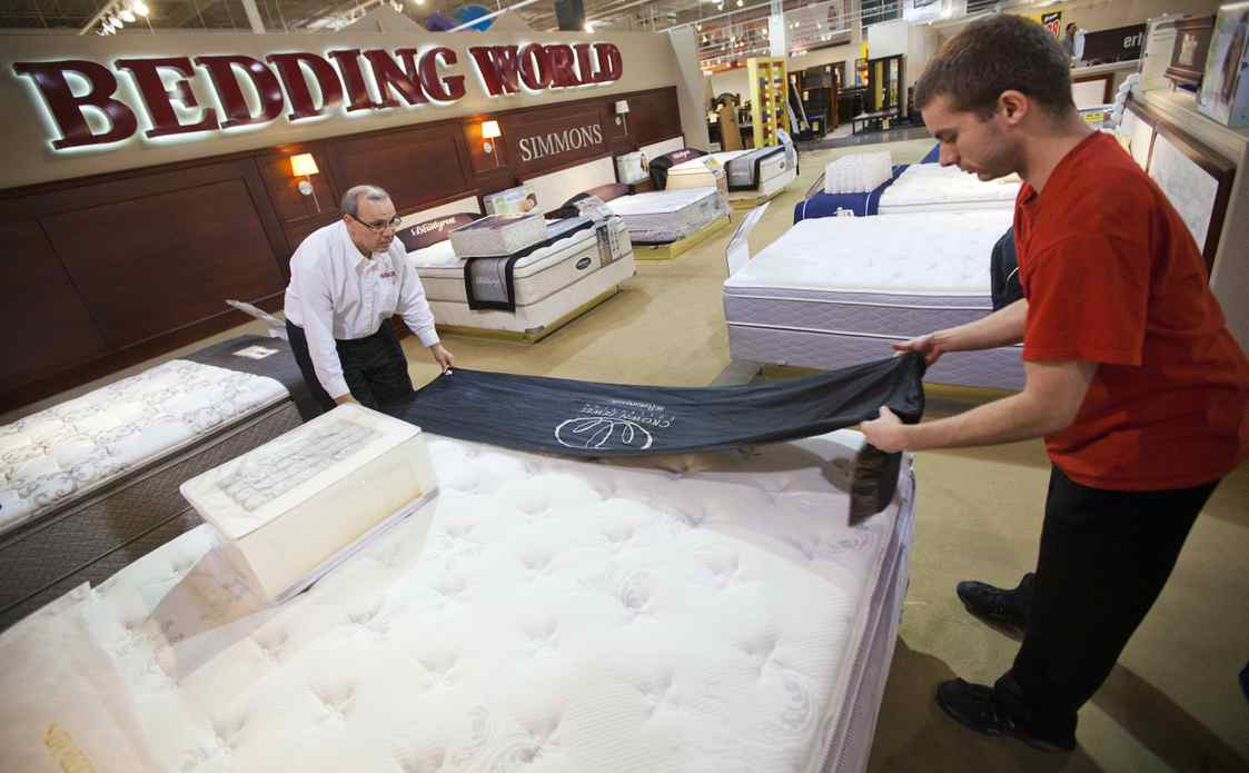 A recent focus on mattresses has helped The Brick generate higher profits because they can be sold at a significant markup to their wholesale costs.