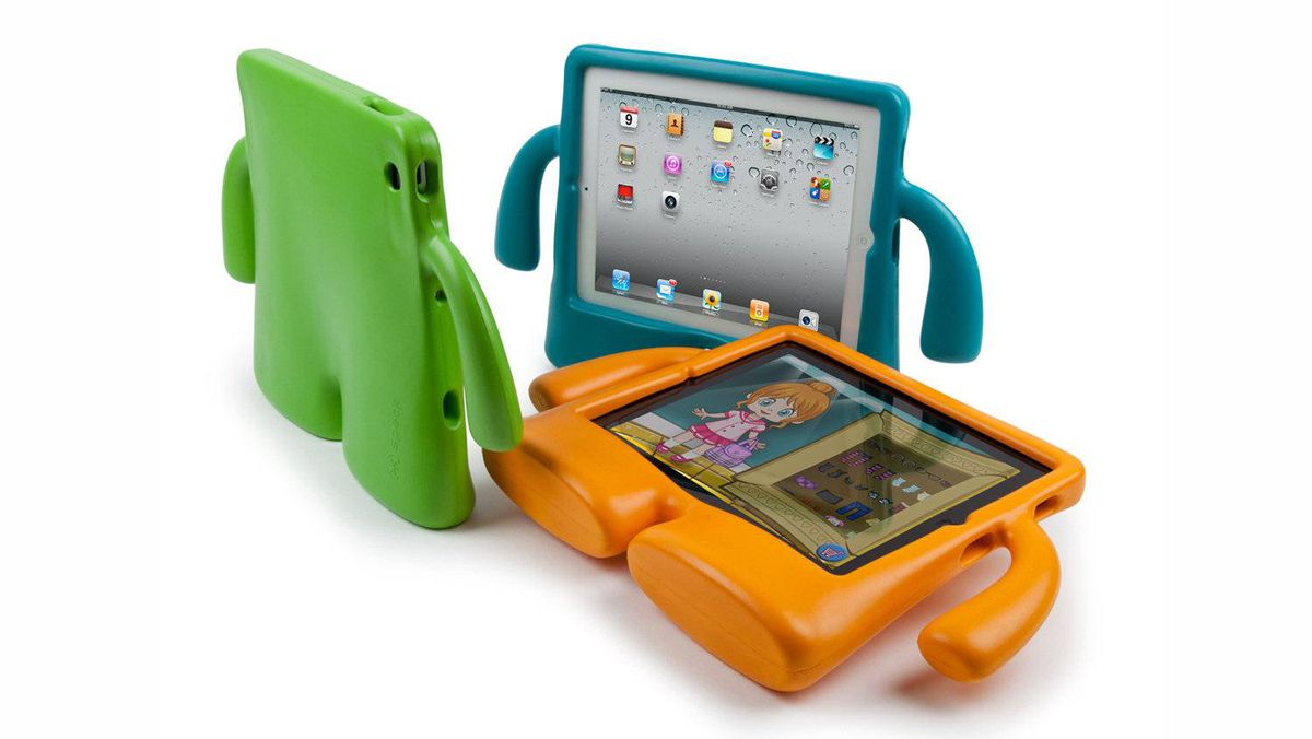 iGuy iPad case Designed for the discerning toddler, this case from Speck comes in three pastel colours. When standing on its two legs, the iGuy provides an ideal widescreen for video viewing on an iPad, and the two arms means your little speck can carry it around from bedroom to kitchen. The EVA foam material means that an iPad cuddled by the iGuy is protected from your iBaby. (US$39.95; speckproducts.com)