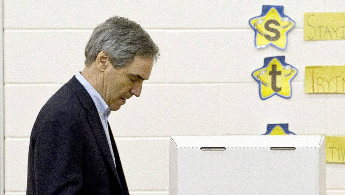 Liberal Leader Michael Ignatieff casts his ballot Monday, May 2, 2011 in Toronto.