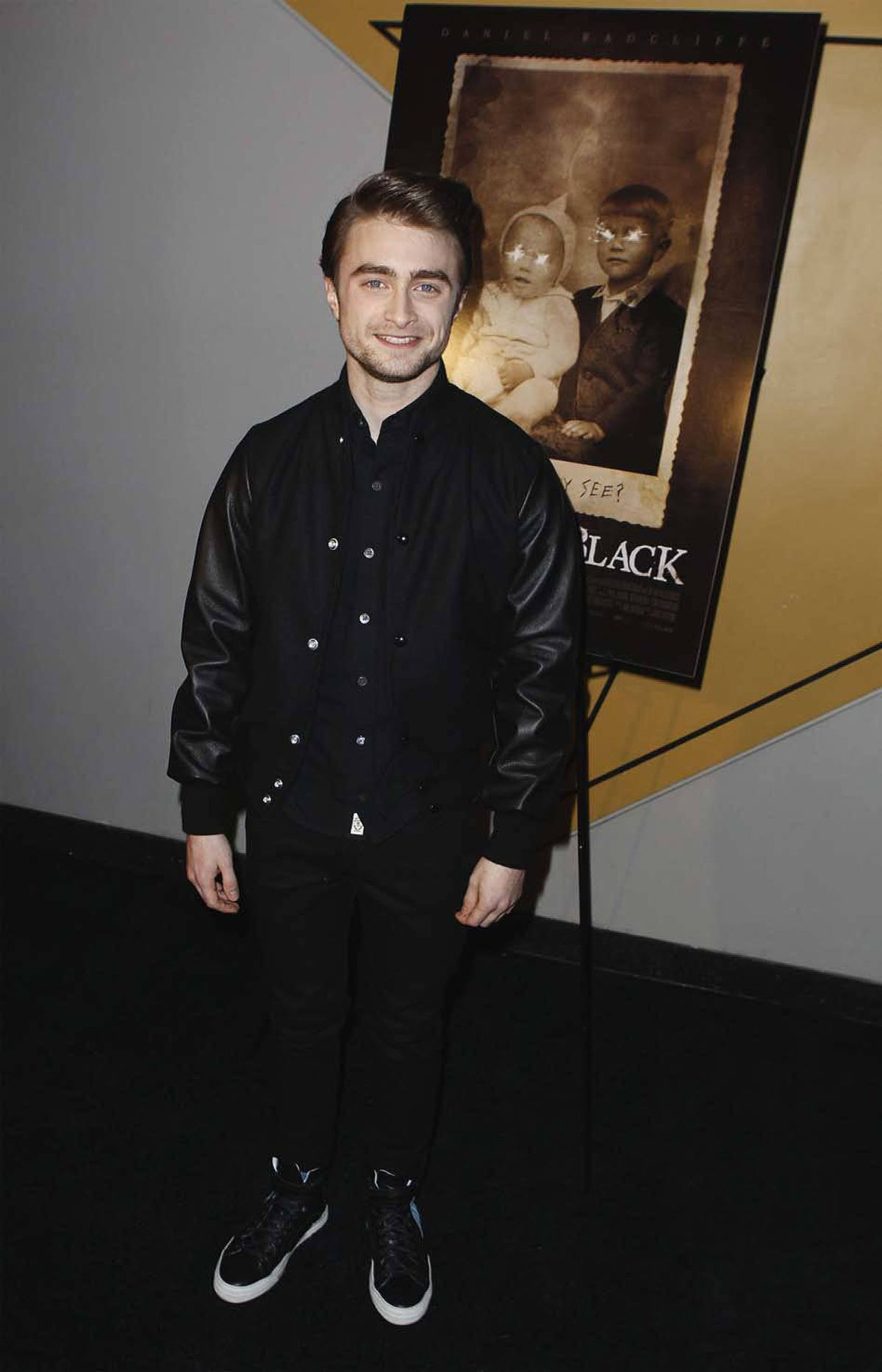"Daniel Radcliffe wishes more people turned out for the premiere of ""The Woman in Black"" in New York on Monday."
