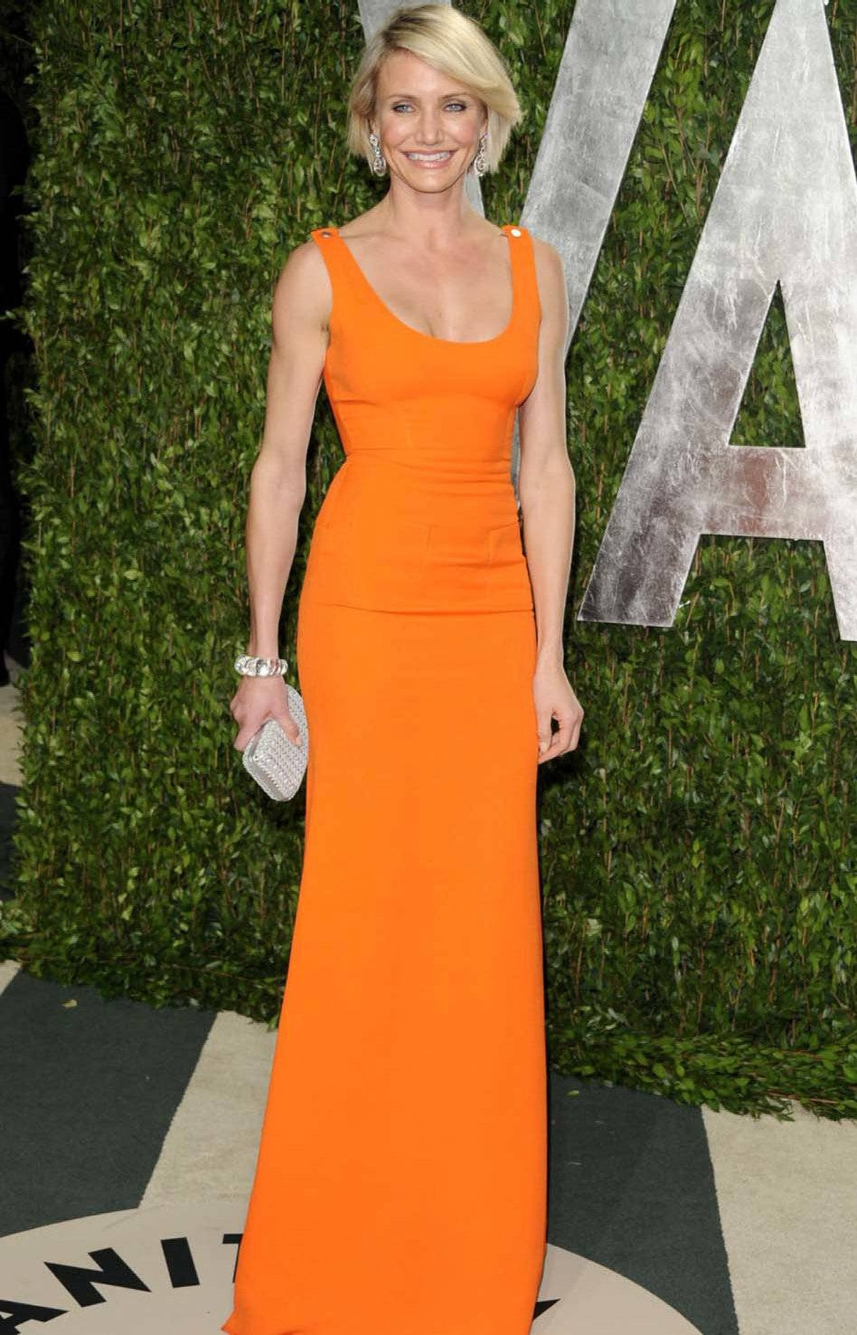 Cameron Diaz wore Home Depot to the Vanity Fair Oscar party on Sunday.