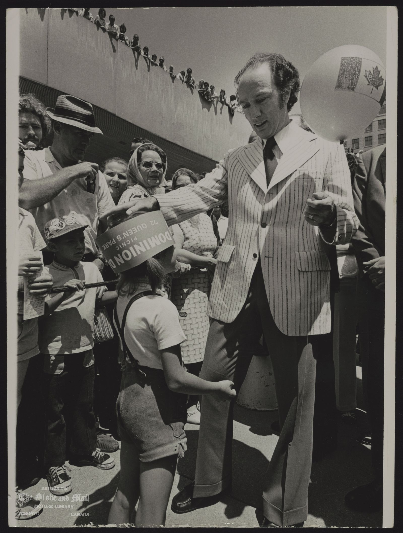 Pierre TRUDEAU Ottawa. Politician Trudeau at Nathan Phillips Square, Toronto on Dominion Day, July 1, 1972.