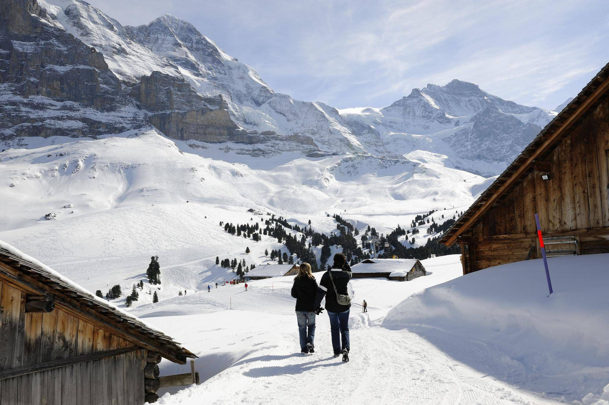 Taking a winter hike on a groomed trail in the serenity of the taking a winter hike on a groomed trail in the serenity of the swiss alps the globe and mail sciox Image collections