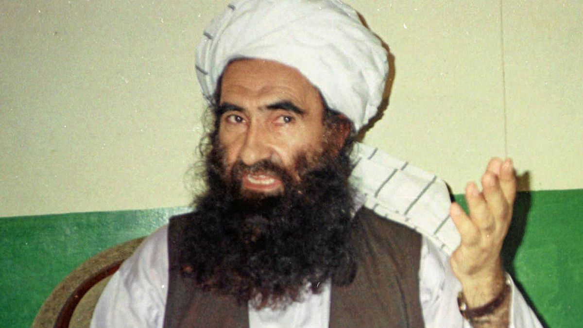 Jalaluddin Haqqani (in a 1998 photo), the leader of one powerful Taliban faction, is a Pakistan favourite because he opposes Indian expansion in Afghanistan, but the U.S. will not talk to him because of al-Qaeda links.
