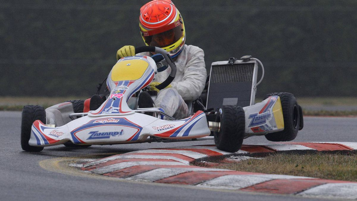 Kart driver Lance Stroll of Canada is pictured during a training session at the South Garda Karting circuit in Lonato, northern Italy December 15, 2011. Photo: Alessandro Garofalo