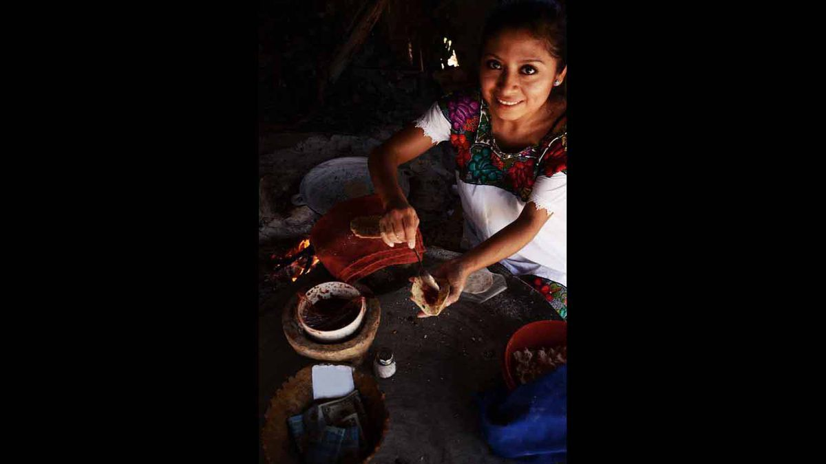 I was volunteering in Mexico when I made wonderful acquaintance with this gentle, nurturing and humble cook. Always smiling, never complaining,
