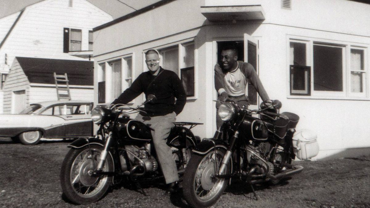 William Bill Clarke, right, sometime in the late 1950s in the Maritimes.
