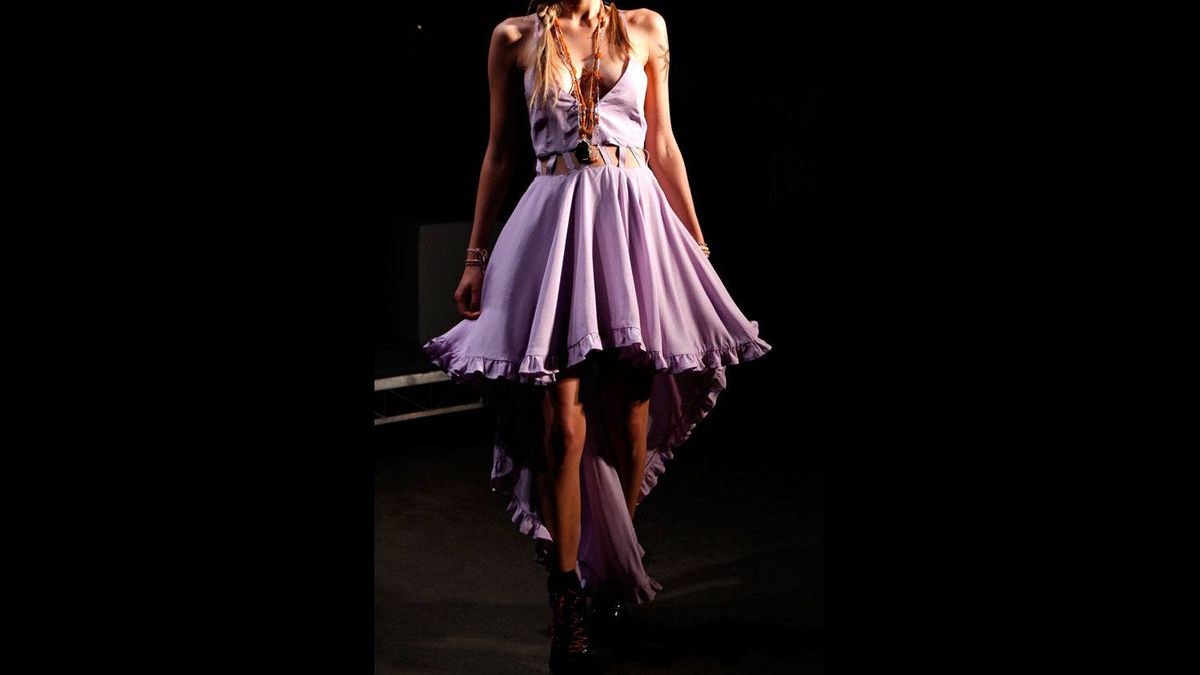 A model showcases designs by Miss Unkon on the catwalk during Rosemount Australian Fashion Week Spring/Summer 2011/12 at Overseas Passenger Terminal on May 3, 2011 in Sydney