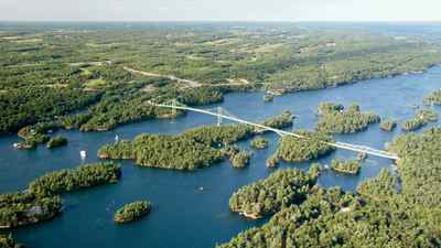 St. Lawrence National Park Islands are part of the Frontenac Arch Biosphere Reserve, a UNESCO protected region that forms a bridge of islands connecting the Canadian Shield and the Adirondack mountains.