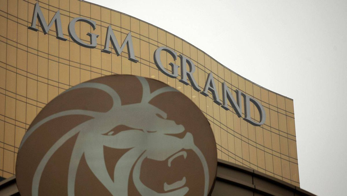 The logo of MGM Grand Macau hotel resort is displayed outside its hotel in Macau, in this February 15, 2011 file picture. Macau casino operator MGM China raised $1.5 billion from its Hong Kong initial public offering after pricing it at the top of its indicative range, triggering some concerns about lofty valuations. The IPO of MGM China will make it the latest U.S. casino affiliate to go public in Hong Kong and make Pansy Ho, daughter of Macau's legendary casino magnate, worth $5 billion on paper.