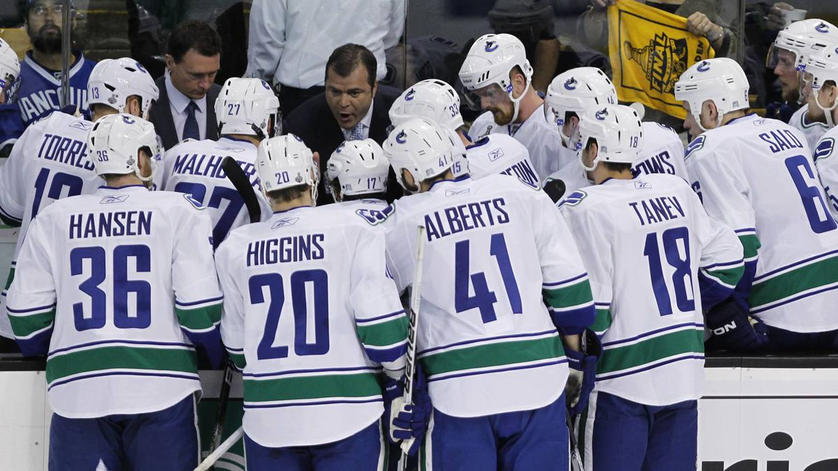 Vancouver Canucks bench