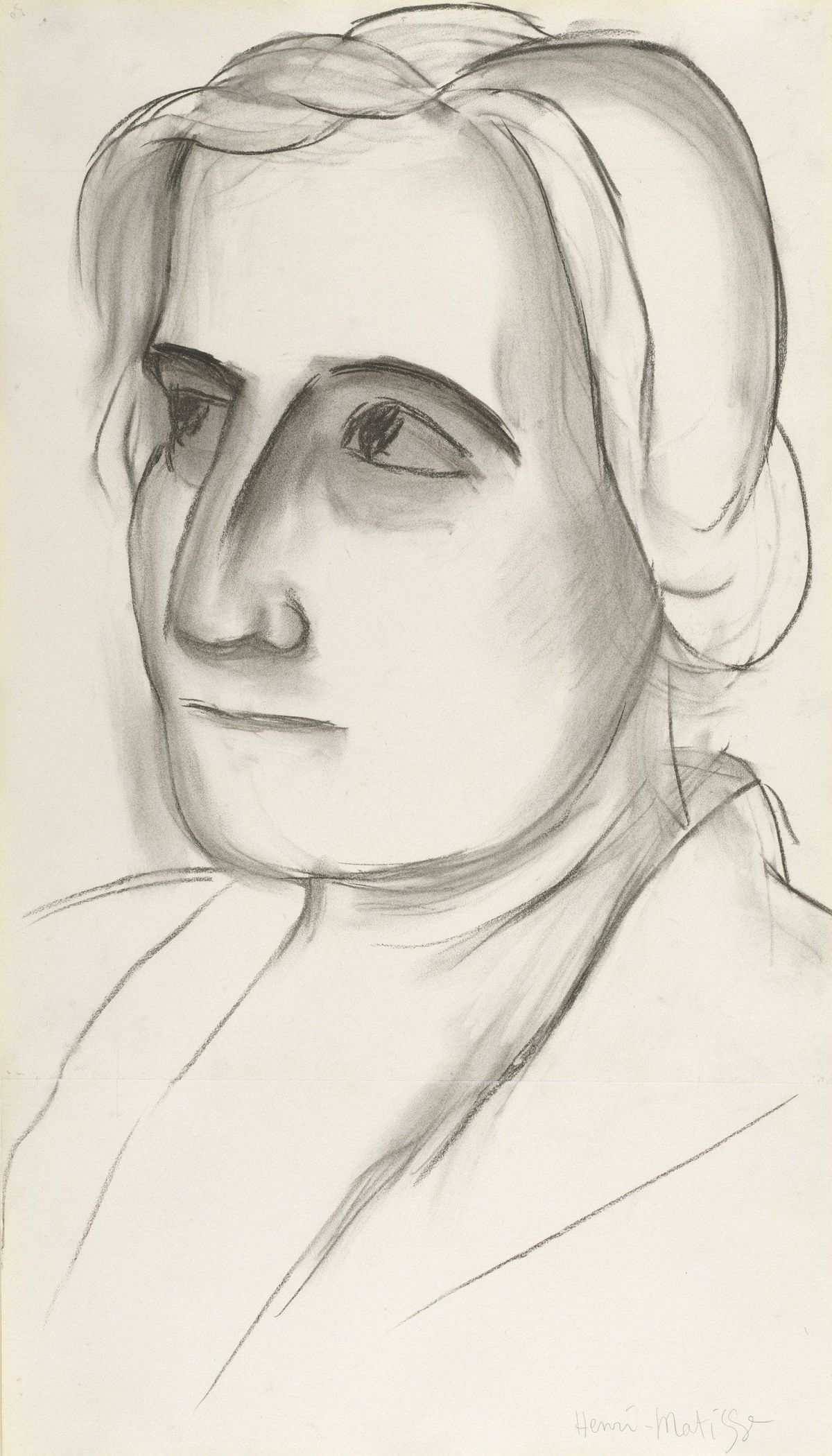Henri Matisse, Etta Cone (VI/VI), 1931-1934, charcoal with stumping, The Baltimore Museum of Art: The Cone Collection, formed by Dr. Claribel Cone and Miss Etta Cone of Baltimore, Maryland, BMA