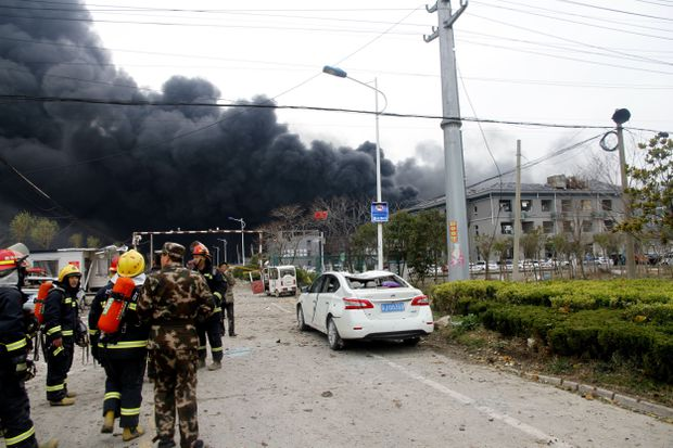 Dozens killed and hundreds injured in explosion at Chinese chemical plant