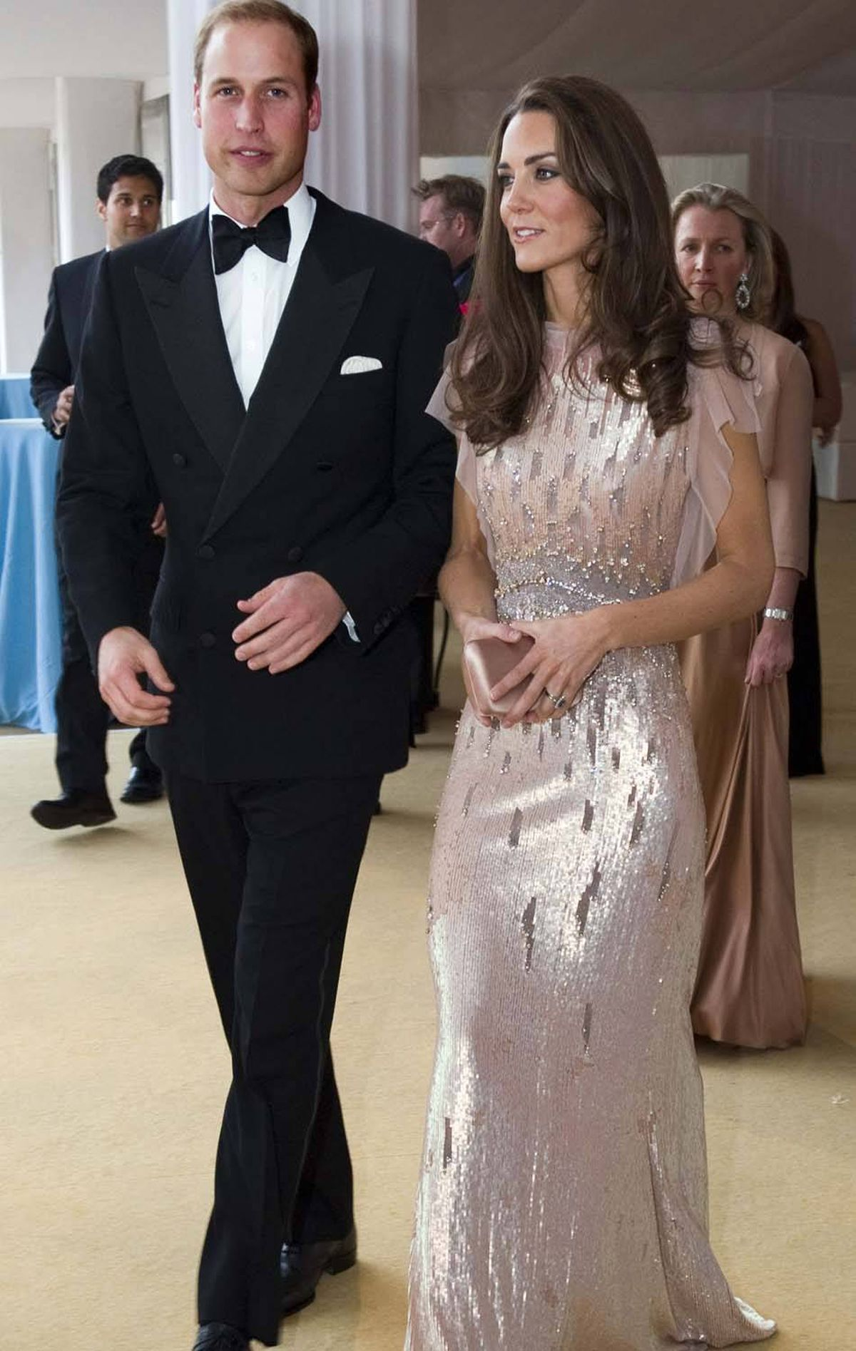 The Duchess dazzles in a sparkling Jenny Packham gown at the the 10th annual ARK gala dinner at Kensington Palace in London on June 9.