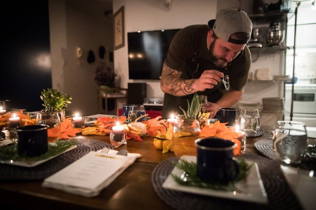 Add Thc Distillate To An Amuse Bouche Of Toasted Farro And Young Pine Broth Before Guests Arrive For A Multi Course Cannabis Infused Meal In Vancouver